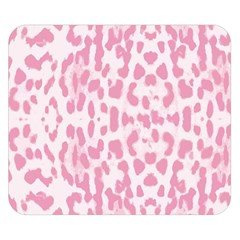 Leopard Pink Pattern Double Sided Flano Blanket (small)  by Valentinaart