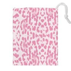 Leopard Pink Pattern Drawstring Pouches (xxl)