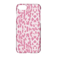 Leopard Pink Pattern Apple Iphone 7 Hardshell Case by Valentinaart
