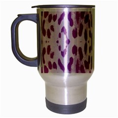 Purple Leopard Pattern Travel Mug (silver Gray) by Valentinaart