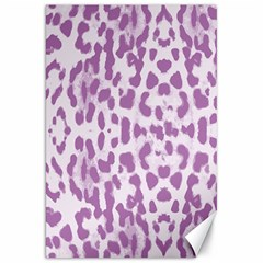 Purple Leopard Pattern Canvas 20  X 30   by Valentinaart
