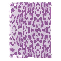 Purple Leopard Pattern Apple Ipad 3/4 Hardshell Case (compatible With Smart Cover) by Valentinaart