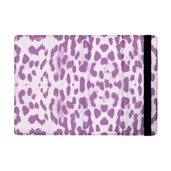 Purple Leopard Pattern Apple Ipad Mini Flip Case by Valentinaart