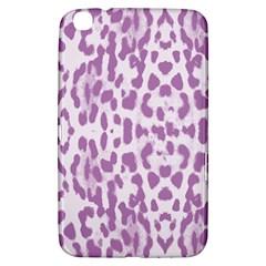 Purple Leopard Pattern Samsung Galaxy Tab 3 (8 ) T3100 Hardshell Case  by Valentinaart