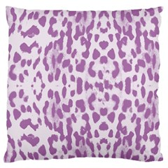 Purple Leopard Pattern Large Flano Cushion Case (two Sides) by Valentinaart