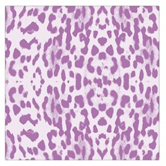 Purple Leopard Pattern Large Satin Scarf (square) by Valentinaart
