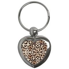 Leopard Pattern Key Chains (heart)  by Valentinaart