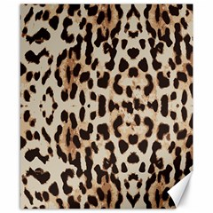 Leopard Pattern Canvas 8  X 10  by Valentinaart