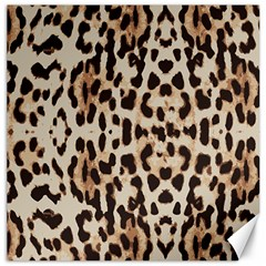 Leopard Pattern Canvas 12  X 12   by Valentinaart
