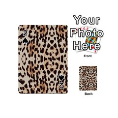 Leopard Pattern Playing Cards 54 (mini)  by Valentinaart