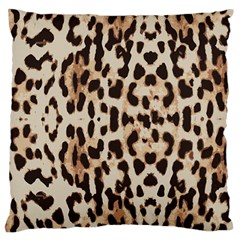 Leopard Pattern Large Cushion Case (two Sides) by Valentinaart