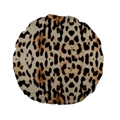 Leopard Pattern Standard 15  Premium Round Cushions by Valentinaart