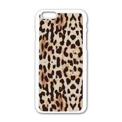 Leopard Pattern Apple Iphone 6/6s White Enamel Case by Valentinaart
