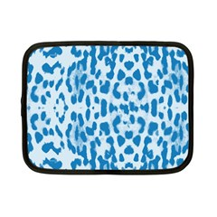 Blue Leopard Pattern Netbook Case (small)  by Valentinaart