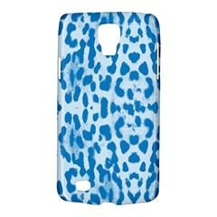 Blue Leopard Pattern Galaxy S4 Active by Valentinaart