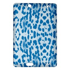 Blue Leopard Pattern Amazon Kindle Fire Hd (2013) Hardshell Case by Valentinaart