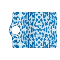 Blue Leopard Pattern Kindle Fire Hd (2013) Flip 360 Case by Valentinaart