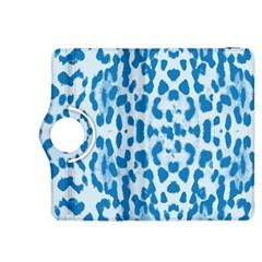 Blue Leopard Pattern Kindle Fire Hdx 8 9  Flip 360 Case by Valentinaart