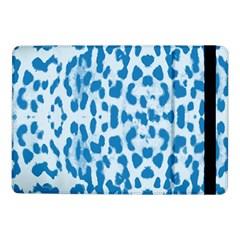 Blue Leopard Pattern Samsung Galaxy Tab Pro 10 1  Flip Case by Valentinaart