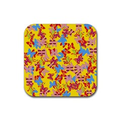 Butterflies  Rubber Coaster (square)  by Valentinaart
