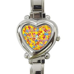 Butterflies  Heart Italian Charm Watch by Valentinaart
