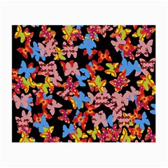 Butterflies Small Glasses Cloth (2 Side) by Valentinaart