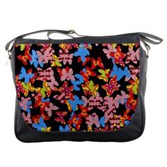 Butterflies Messenger Bags by Valentinaart