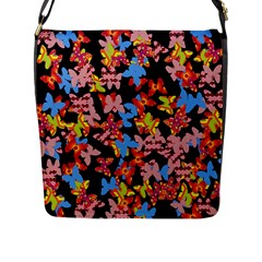 Butterflies Flap Messenger Bag (l)  by Valentinaart