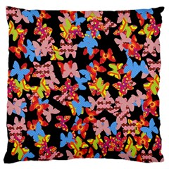 Butterflies Large Flano Cushion Case (one Side) by Valentinaart