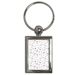 Cute Flamingos And  Leaves Pattern Key Chains (rectangle)  by TastefulDesigns