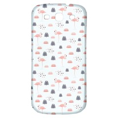 Cute Flamingos And  Leaves Pattern Samsung Galaxy S3 S Iii Classic Hardshell Back Case by TastefulDesigns