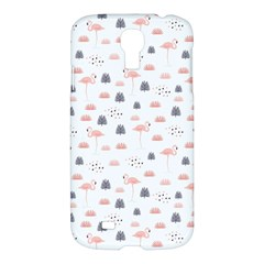 Cute Flamingos And  Leaves Pattern Samsung Galaxy S4 I9500/i9505 Hardshell Case by TastefulDesigns