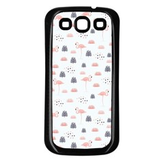 Cute Flamingos And  Leaves Pattern Samsung Galaxy S3 Back Case (black) by TastefulDesigns