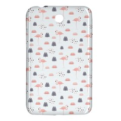 Cute Flamingos And  Leaves Pattern Samsung Galaxy Tab 3 (7 ) P3200 Hardshell Case  by TastefulDesigns