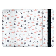 Cute Flamingos And  Leaves Pattern Samsung Galaxy Tab Pro 12 2  Flip Case by TastefulDesigns