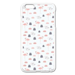 Cute Flamingos And  Leaves Pattern Apple Iphone 6 Plus/6s Plus Enamel White Case