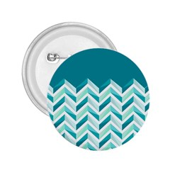 Zigzag Pattern In Blue Tones 2 25  Buttons by TastefulDesigns