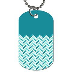 Zigzag Pattern In Blue Tones Dog Tag (two Sides) by TastefulDesigns