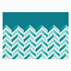Zigzag Pattern In Blue Tones Large Glasses Cloth (2 Side) by TastefulDesigns