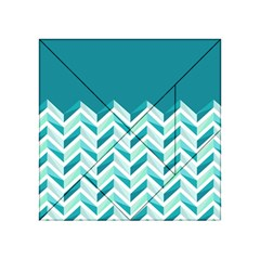 Zigzag Pattern In Blue Tones Acrylic Tangram Puzzle (4  X 4 ) by TastefulDesigns