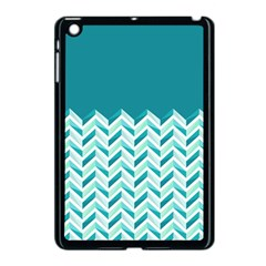 Zigzag Pattern In Blue Tones Apple Ipad Mini Case (black) by TastefulDesigns