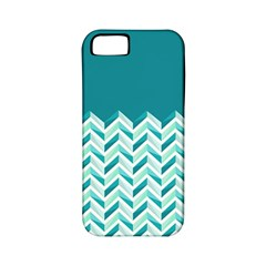 Zigzag Pattern In Blue Tones Apple Iphone 5 Classic Hardshell Case (pc+silicone) by TastefulDesigns