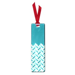 Zigzag Pattern In Blue Tones Small Book Marks by TastefulDesigns