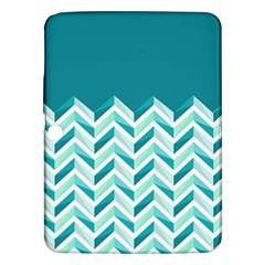 Zigzag Pattern In Blue Tones Samsung Galaxy Tab 3 (10 1 ) P5200 Hardshell Case  by TastefulDesigns