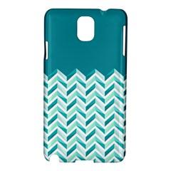 Zigzag Pattern In Blue Tones Samsung Galaxy Note 3 N9005 Hardshell Case by TastefulDesigns