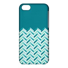 Zigzag Pattern In Blue Tones Apple Iphone 5c Hardshell Case by TastefulDesigns