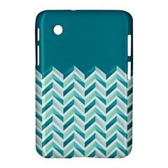 Zigzag Pattern In Blue Tones Samsung Galaxy Tab 2 (7 ) P3100 Hardshell Case  by TastefulDesigns