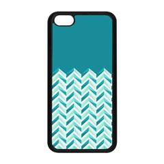 Zigzag Pattern In Blue Tones Apple Iphone 5c Seamless Case (black) by TastefulDesigns