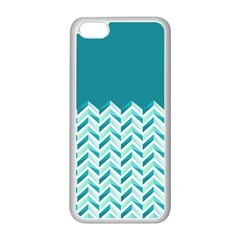 Zigzag Pattern In Blue Tones Apple Iphone 5c Seamless Case (white) by TastefulDesigns