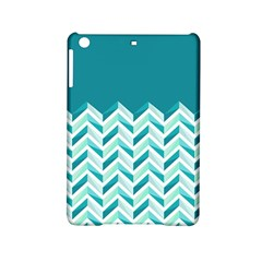 Zigzag pattern in blue tones iPad Mini 2 Hardshell Cases